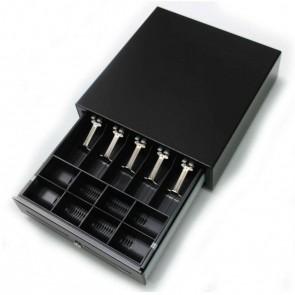 Kick Cash Drawer | Black | 5 Bill compartments | 9 Coin Compartments