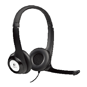 Logitech H390 USB stereo headset with rotating mic