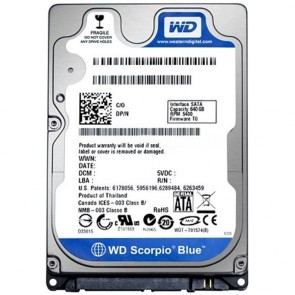 "500GB Western Digital 2.5"" Laptop Hard Drive"